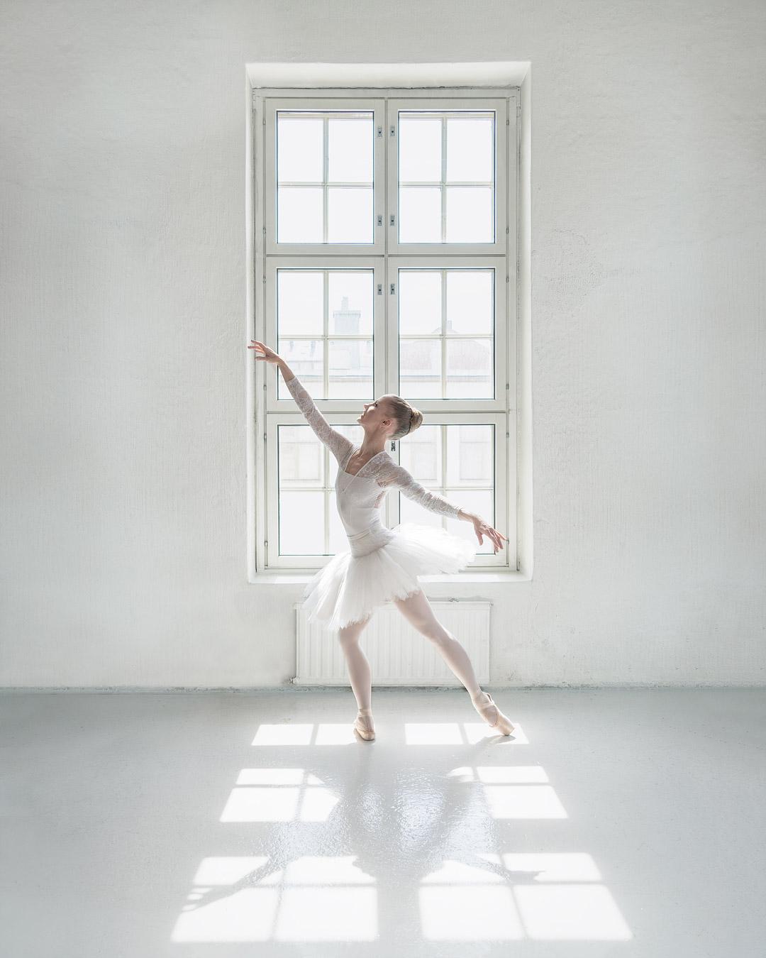Ballerina and window